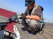 屋根の無料点検風景