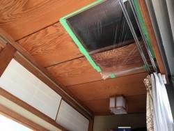 掃き出しの天井を開口した部分