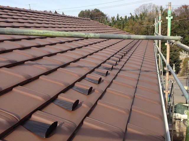 赤い屋根の写真