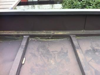 凹みによる雨漏り