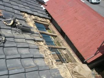 屋根の下地の状況