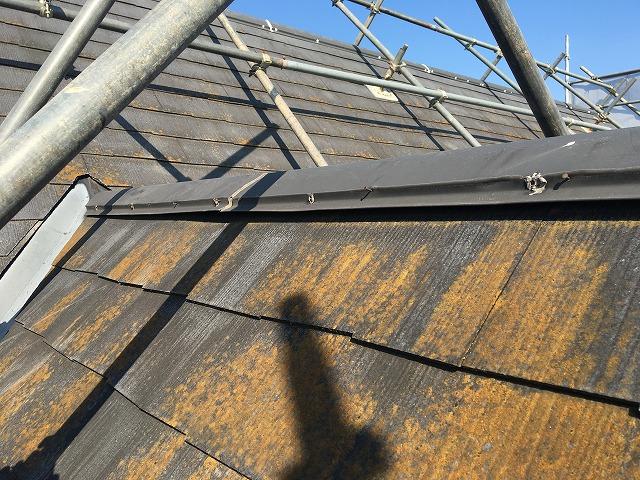 近くから見た屋根の表面