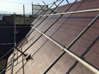 塗装が終わった屋根