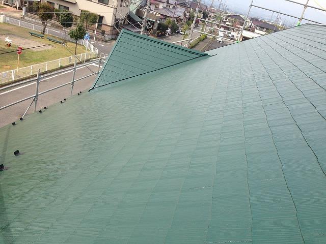 スレート屋根塗装完了