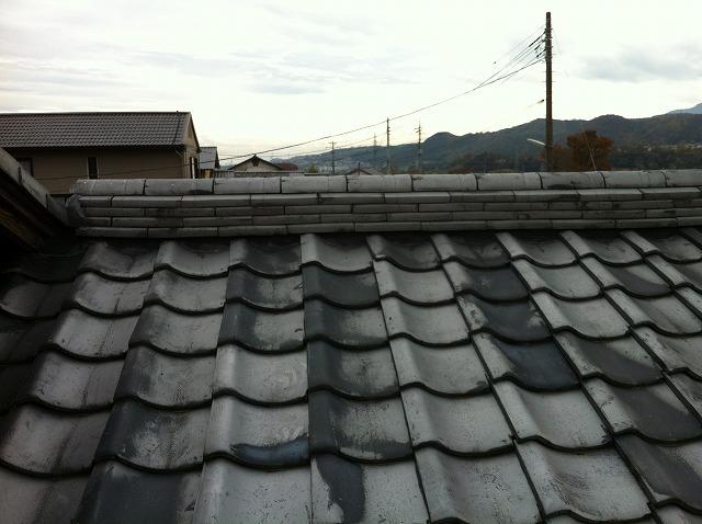 昔から続く瓦屋根