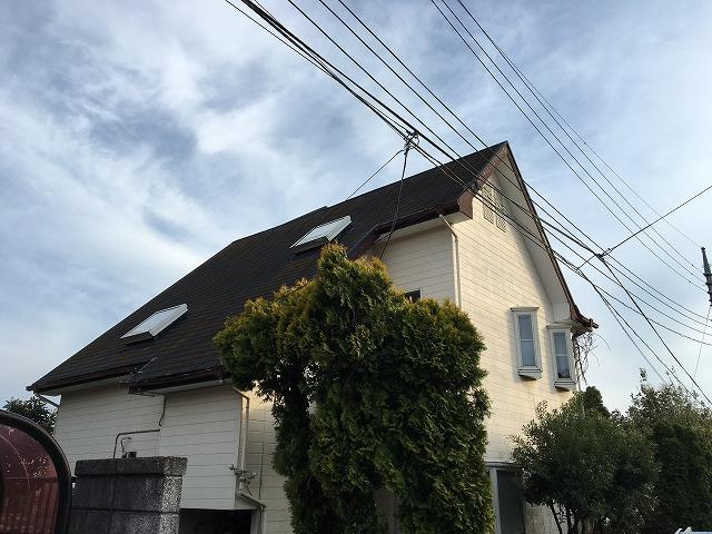 渋川市北橘町にて屋根の経年劣化による現場調査を行ってきました