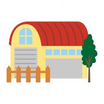 かまぼこ屋根の家