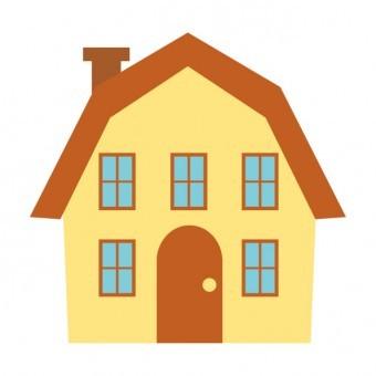 ギャンブレル屋根の家