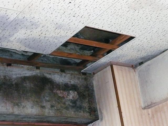雨漏りにより劣化した室内天井