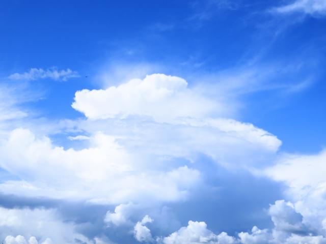 発生した巨大な雲