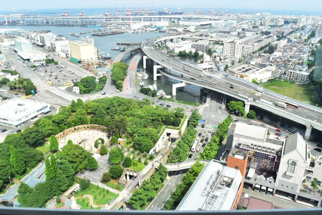 上から見た街の風景