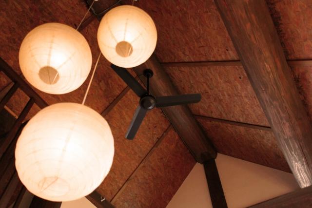 古民家の天井の骨組み