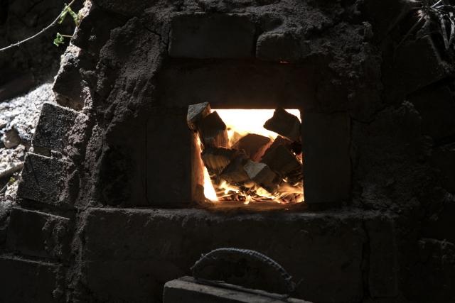 土を使って造られた窯