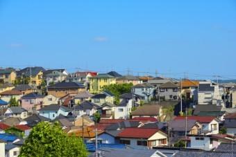 様々な屋根がある住宅街