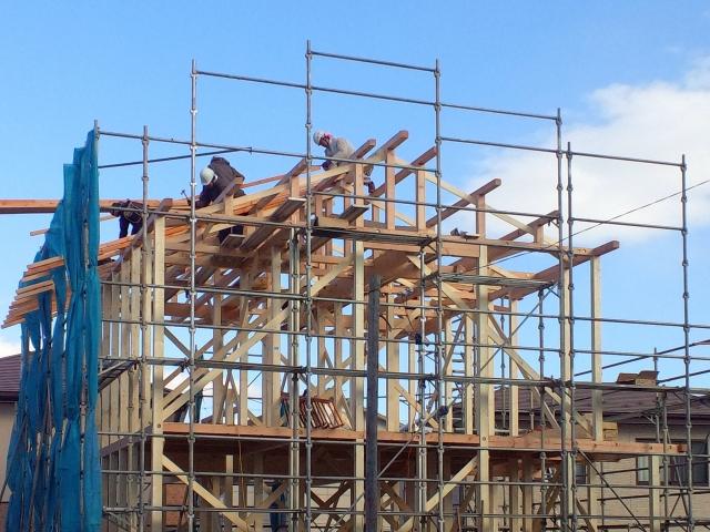建築中の新築