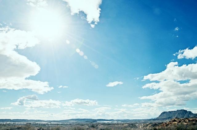 太陽が照り付けるスペイン