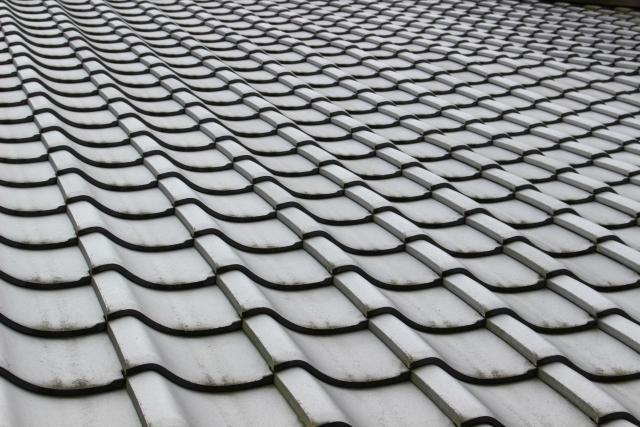 問題が無く,きれいな状態の瓦屋根
