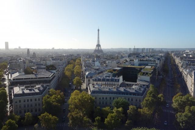 フランスの街並みの風景