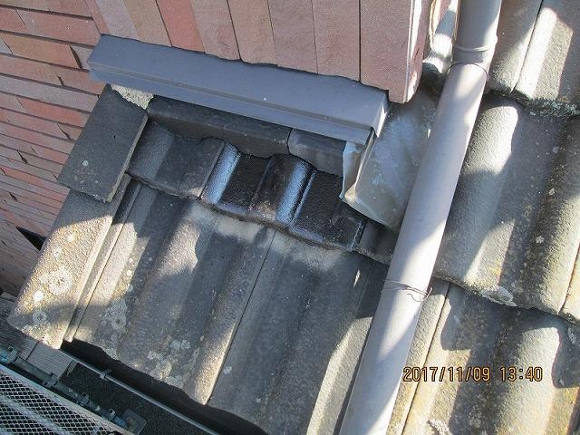 屋根に付いた這樋
