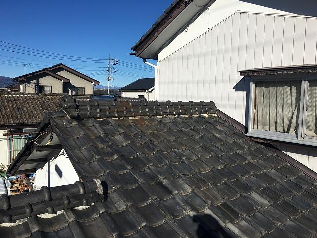 這樋外れによる雨漏りのご相談。瓦屋根の調査を行いました|高崎市