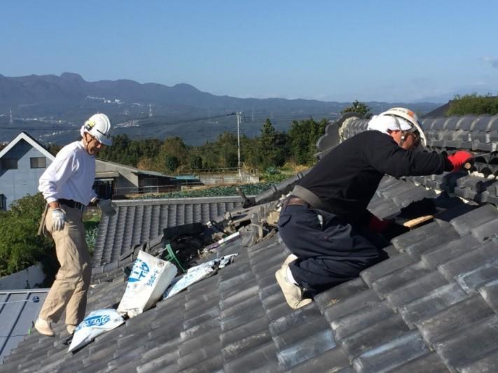 2人の瓦屋さん|渋川市瓦屋根