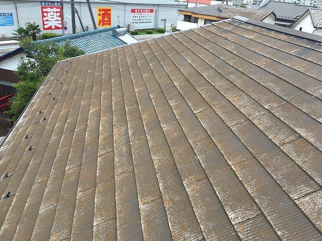 上佐野町のお客様のご自宅の屋根上