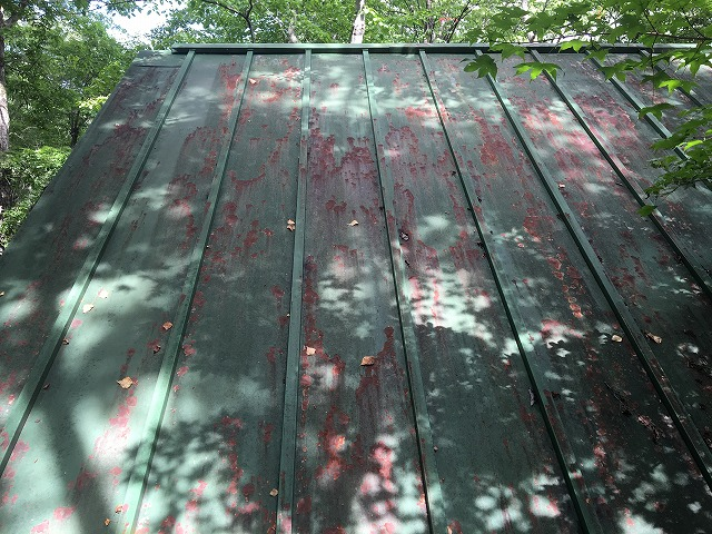 既存屋根桟葺き