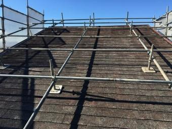 再塗装を行う前の裏側の屋根の状態