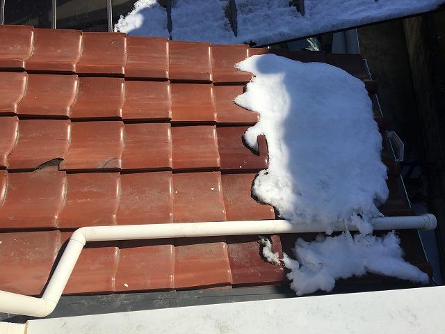 屋根の上の這樋