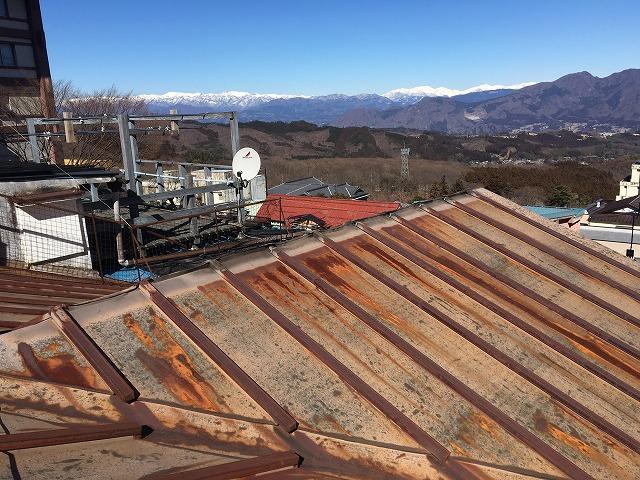 錆が進行した既存の板金屋根