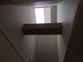 仕上がった天窓下の開口部分