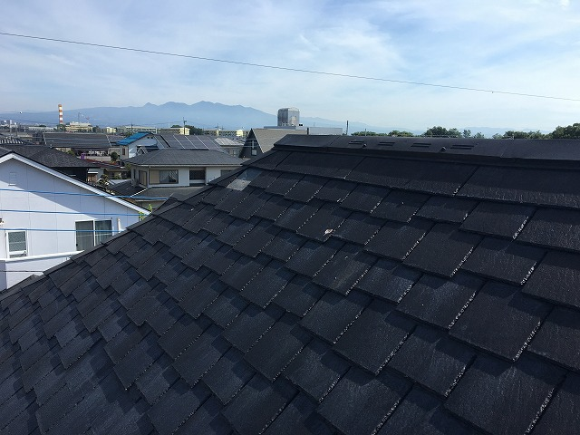 高崎市にて屋根材落下による屋根材差し替えを行いました