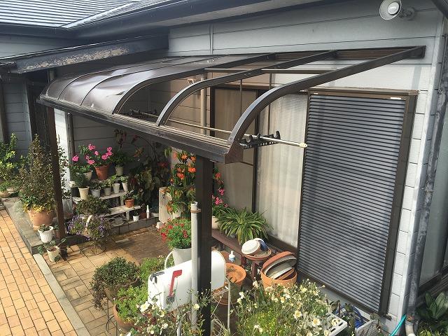 赤城町滝沢町にてテラス屋根のポリカーボネート交換を行いました