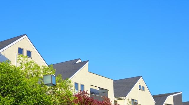 様々な屋根の住宅街
