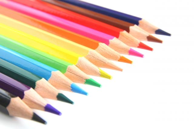 様々な色がある色鉛筆