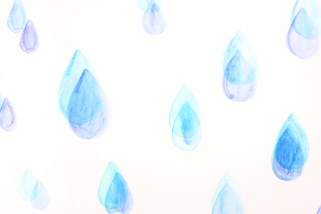 降りしきる雨の雫